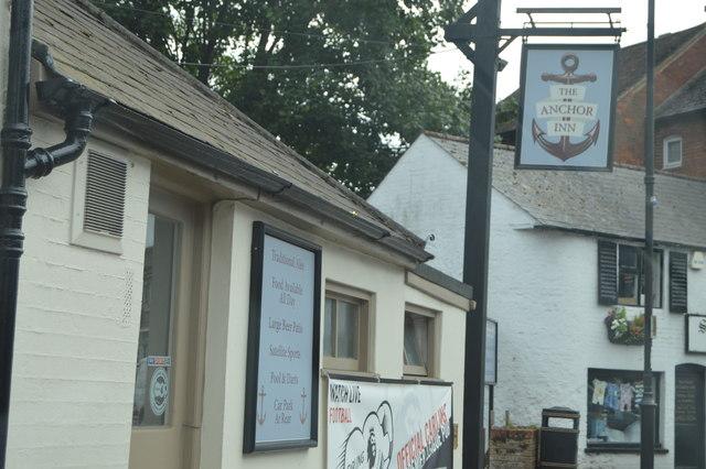 The Anchor Inn sign