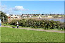 ST1166 : Promenade and beach, Whitmore Bay, Barry Island by M J Roscoe