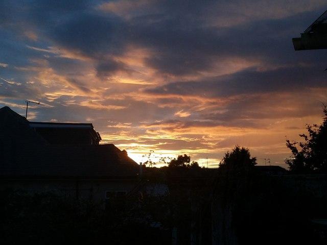 Sunset over Kingsbury