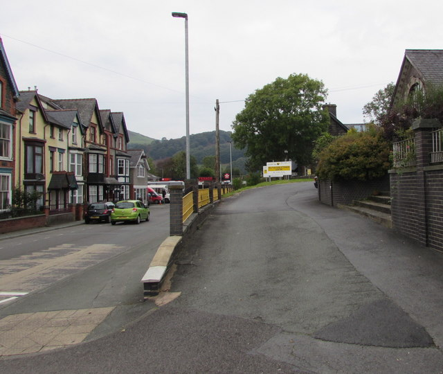 Access road to Mid Wales Storage Centre in Machynlleth