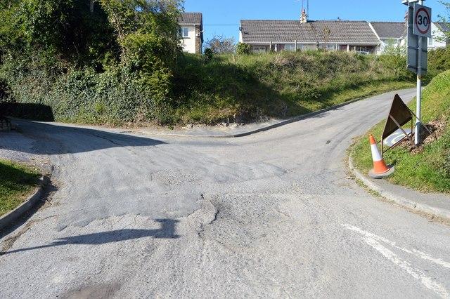 Roads in Tideford