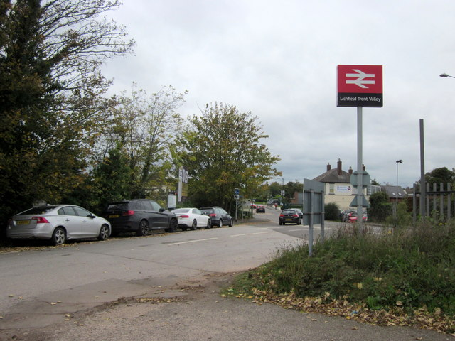 Lichfield Trent Valley Station Exit on to A5127 Burton Road