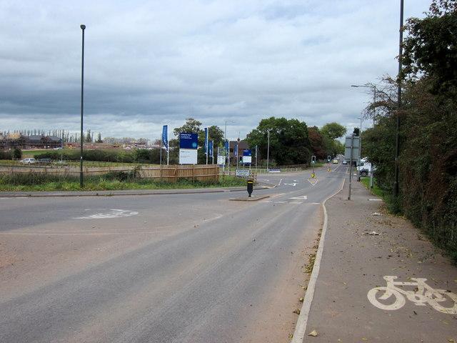 A5127 Burton Road Leaving Lichfield