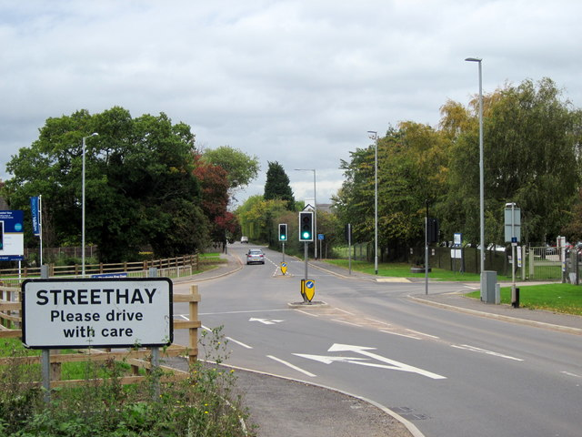 Streethay Village Sign on A5127 Burton Road