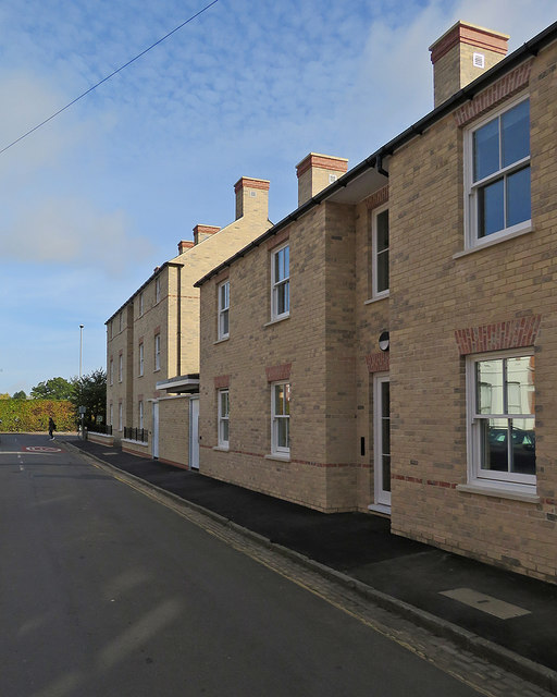 Newnham: new houses on Hardwick Street