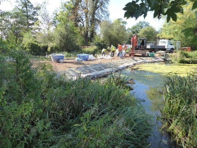 Work on the Water Splash, Croome Park