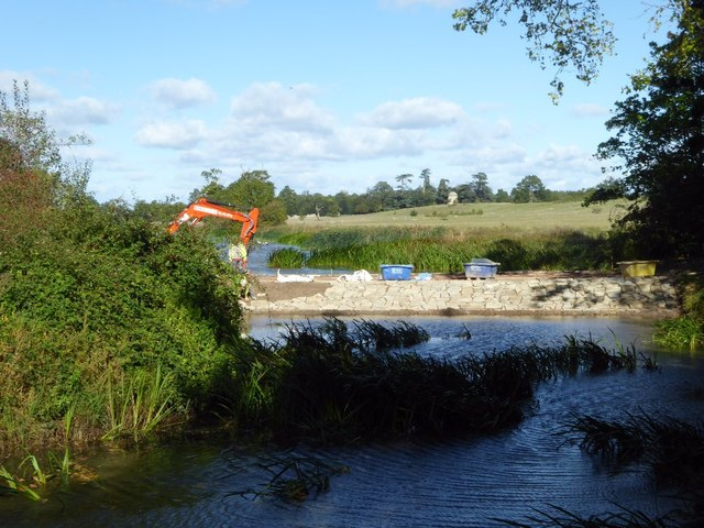 Work on the Water Splash in Croome Park
