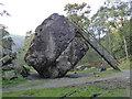NY2516 : Bowder Stone, Borrowdale by Chris Allen