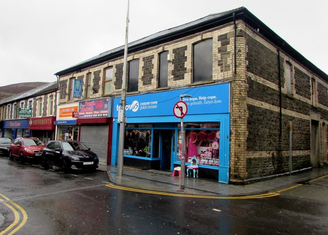 Tenovus Cancer Care charity shop, Hannah Street, Porth
