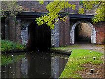 SJ9214 : Lock and towpath bridge at Penkridge in Staffordshire by Roger  Kidd