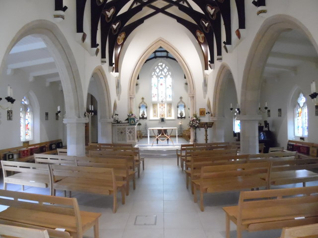 Interior of Holy Trinity Church, Prestwood