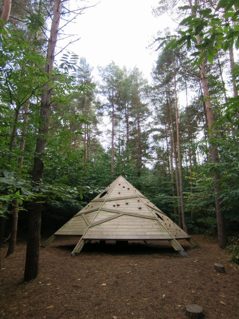 Climbing pyramid, Bedgebury Forest