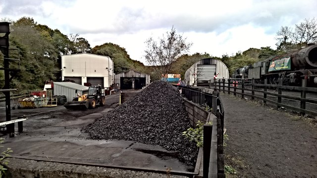 North Yorkshire Moors Railway sheds and yard
