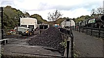 NZ8204 : North Yorkshire Moors Railway sheds and yard by Chris Morgan