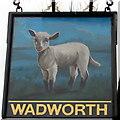 SU1869 : Lamb Inn name sign, Marlborough  by Jaggery