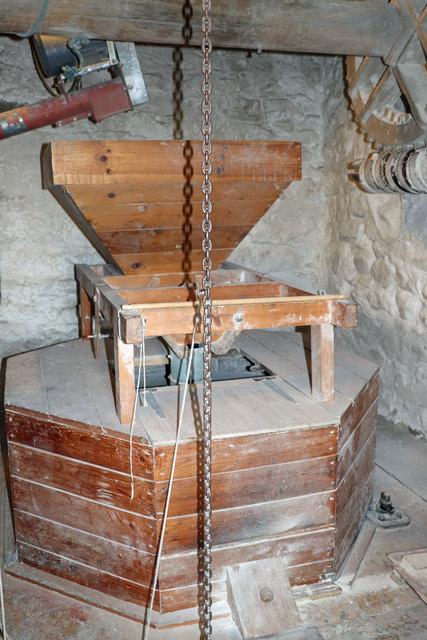 Little Salkeld Flour Mill - stone floor