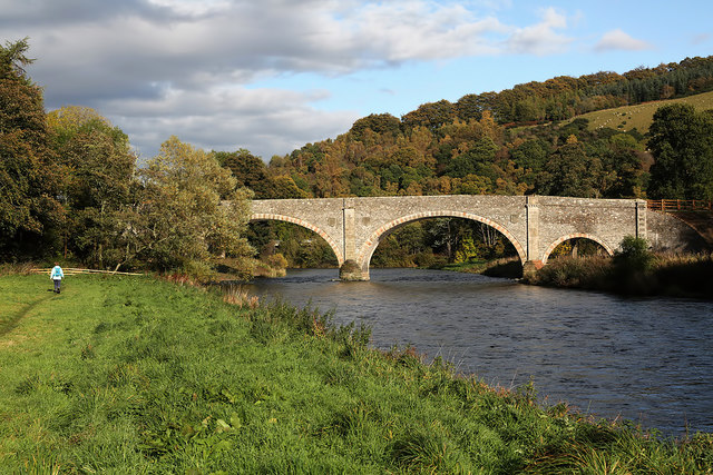 The renovated Old Tweed Bridge