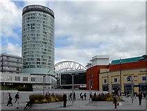 SP0786 : Birmingham redevelopment with the Rotunda by Roger  Kidd