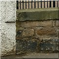 NT2775 : Pivot bench mark, 45 Lochend Road, Leith by Alan Murray-Rust