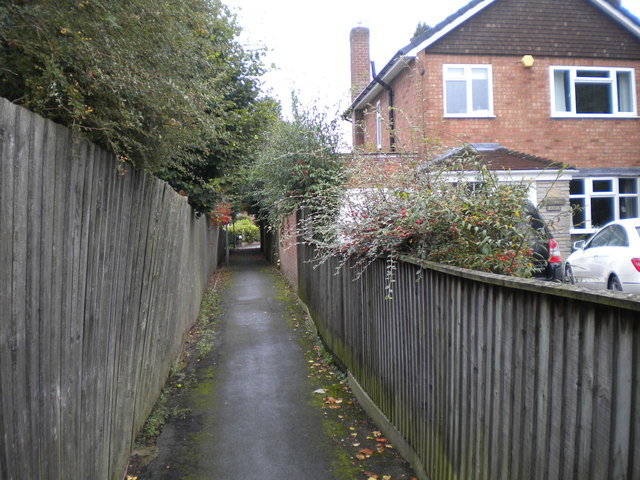 Public footpath to Derwent Road, Palmers Cross