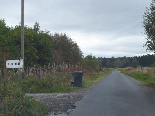 Access track to Netherton (Nether Brathens)