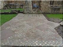 SE2536 : Kirkstall Abbey - Tiled Flooring by Ashley Dace