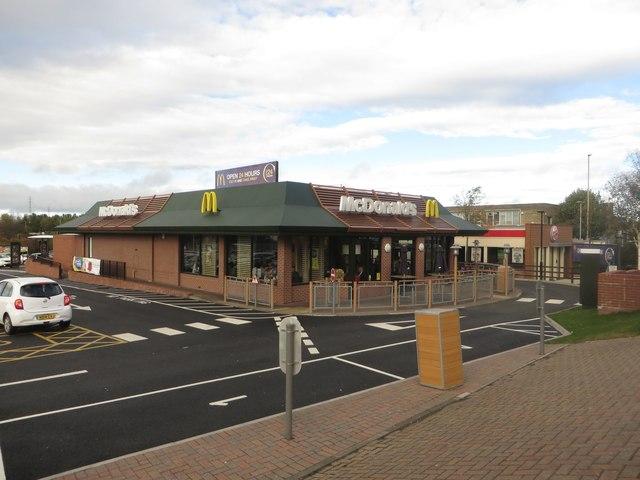 Adjacent fast food restaurants, Jarrow