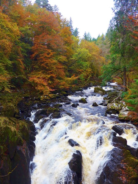 Falls on the River Braan, Ossian's Hall, The Hermitage, Dunkeld