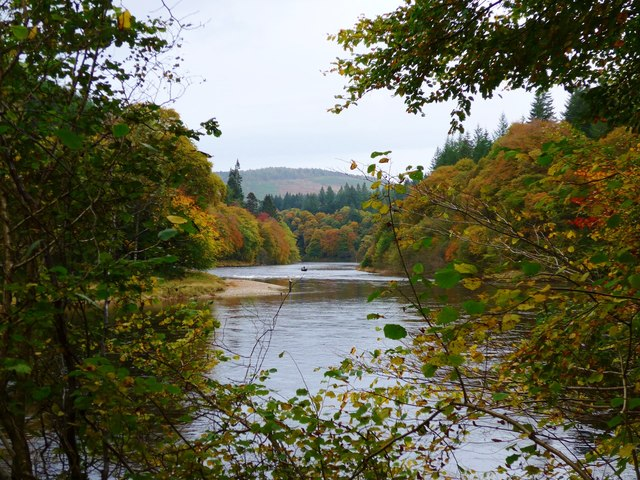 The mighty Tay above Dunkeld