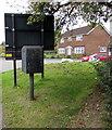 SU1968 : Royal Mail drop box on a Marlborough corner  by Jaggery