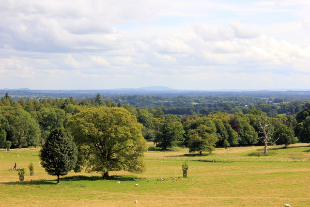 View towards the Wrekin from Chirk Castle