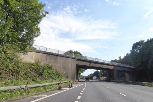 Hanchurch Lane bridge over M6