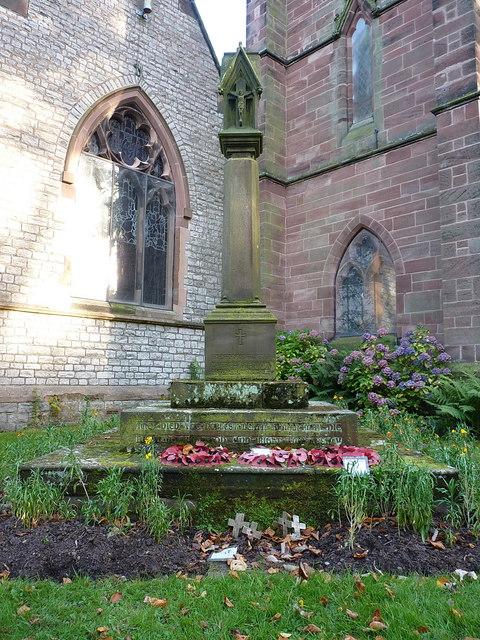 War memorial cross at St Margaret's church