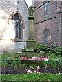 SP0495 : War memorial cross at St Margaret's church by Richard Law