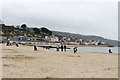 SY3391 : French sand at The Cobb, Lyme Regis by Kate Jewell