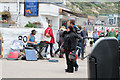 SY3391 : Street entertainment, Lyme Regis by Kate Jewell