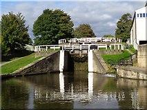 SE1039 : Three rise locks at Bingley by Ashley Dace