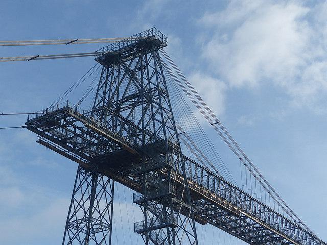 Transporter Bridge (detail), Newport by Robin Drayton