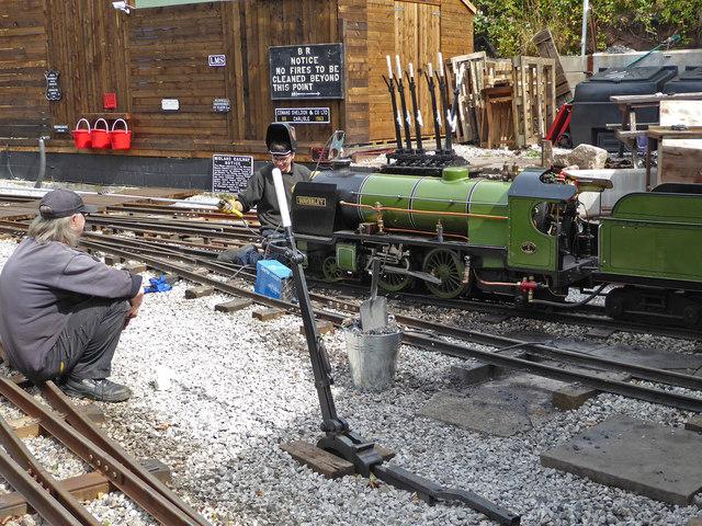 Rudyard Lake steam Railway - running repairs