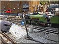 SJ9557 : Rudyard Lake steam Railway - running repairs by Chris Allen