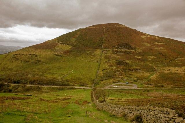 Offa's Dyke Path towards Moel Arthur