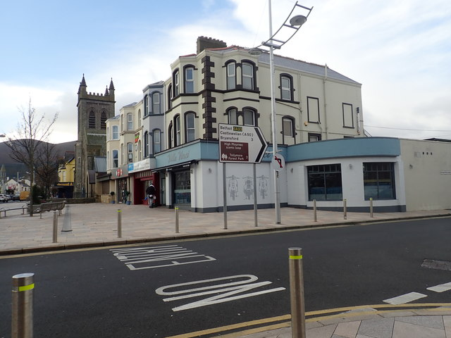 Victorian buildings at the junction of Main Street and Bryansford Avenue, Newcastle