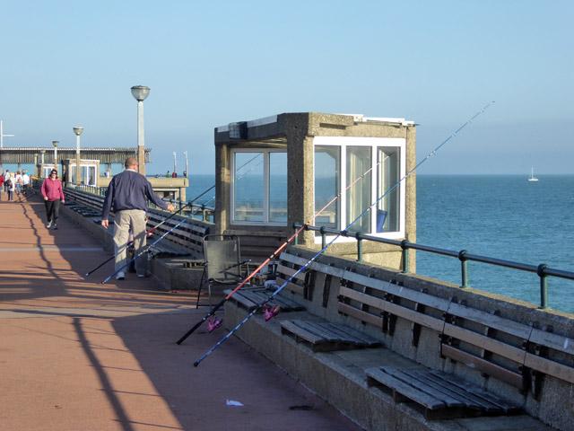 Fishing off Deal Pier