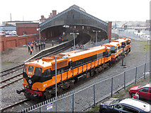 W6872 : 071 class locomotives at Cork station by Gareth James