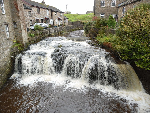 Weir and Waterfall, Hawes