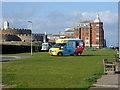 TR3752 : Ice cream van near Deal Castle by Robin Webster