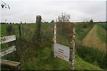 TF3839 : Beware of the dog: Home Office Dog Training area on the Haven bank near North Sea Camp by Chris
