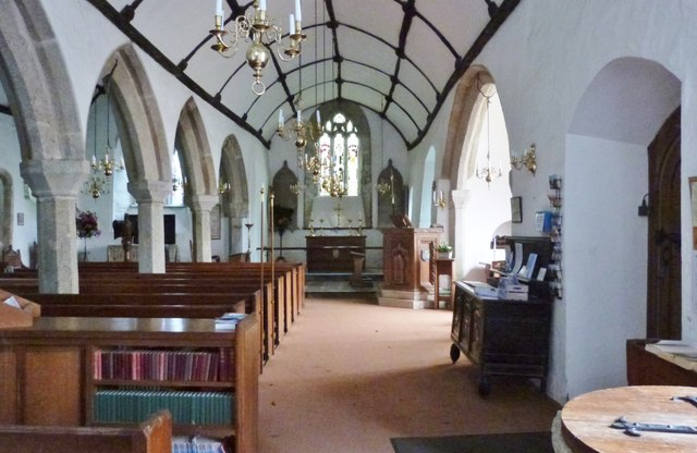 Interior of St. Anthony's church at St. Anthony-in-Meneage