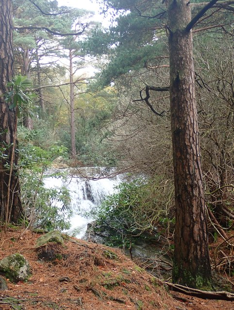 Waterfall on the Glen River below Craignagore Bridge