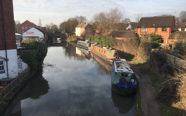 Residential boats, Grand Union Canal, Warwick